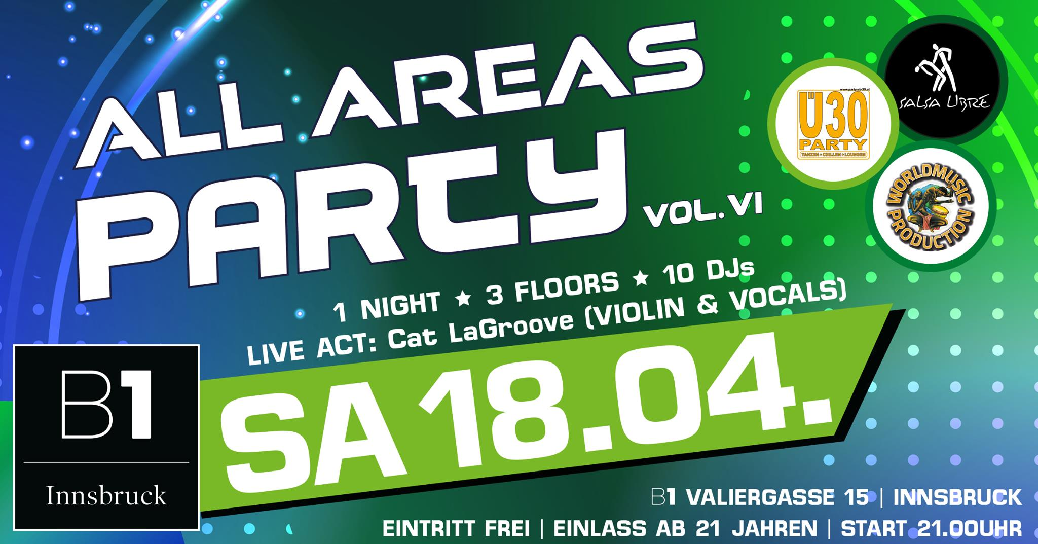 B1 All Areas Party Vol. 6 Innsbruck